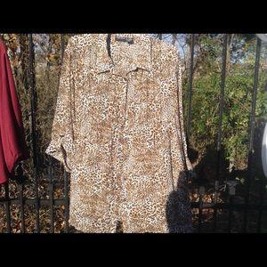 Maggie Barnes tux leopard blouse